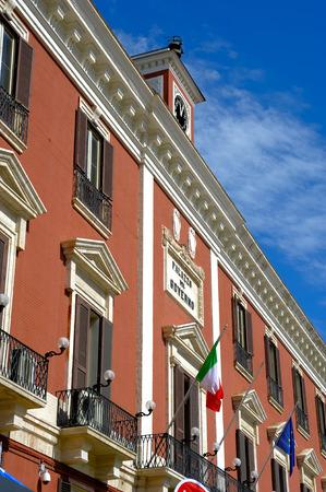 bari: Palace of the prefecture in the main square of Bari, apulia. Italia
