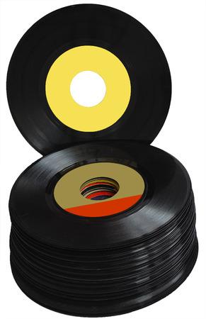 discjockey: Vintage 45 RPM vinyl record albums