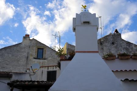 foreshortening: characteristic foreshortening village Rhodes Gargano, Italy