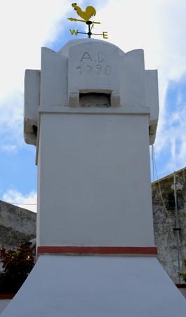 bulwark: characteristic foreshortening village Rhodes Gargano, Italy