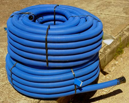 peace pipe: roll of corrugated conduit for microtrench in urban areas.