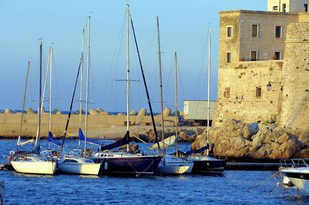moored: Yacht marina. Lots of beautiful yachts moored.