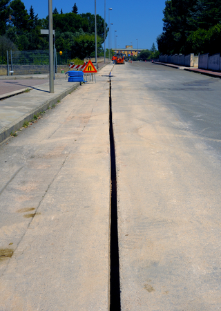 trench: micro trench executed for the execution Fiberglass network