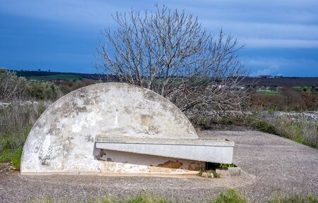 trough: water trough of a consortium of drainage in the Apulia countryside