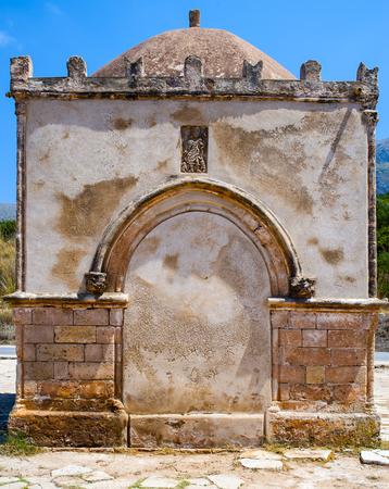 Chapel of Saint Crescentia in San Vito lo Capo Sicily. Italy.Small square chapel built in the thirteenth century in honor of the nurse of St. Vitus, St. Crescentia