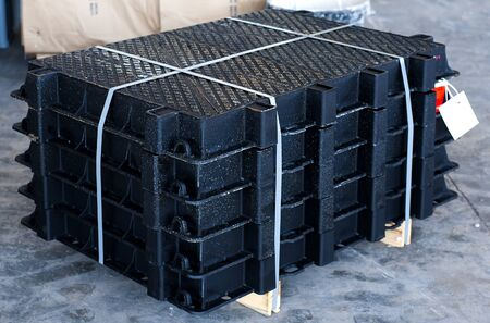 stack of cast iron manhole for manhole cover sewer inspection system
