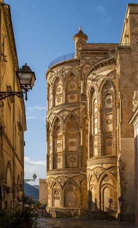 Monreale Cathedral (Duomo di Monreale) near Palermo, Sicily, Italy.UNESCO Heritage site Stock Photo