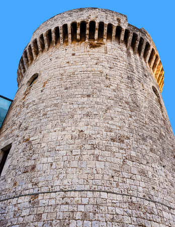 detail Norman tower of the castle of Conversano, Puglia - Italy
