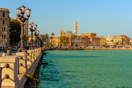 panoramic views of the waterfront of Bari, Apulia - Italy