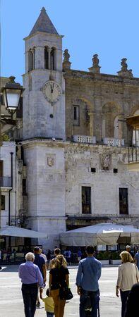 BARI, ITALY, September 10, 2017: View over main square, piazza ferrarese, in italian city Bari.