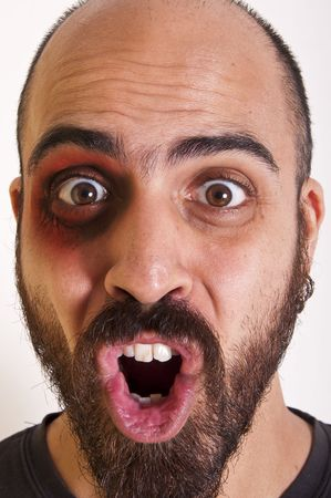 funny man with a beard with his tongue out Stock Photo - 8086701