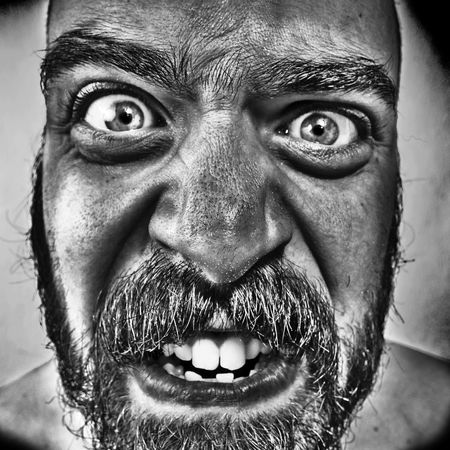 man with monstrous monstrous graphics processing expressions Stock Photo - 8086696