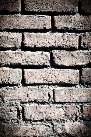 backdrop: wall texture and asphalt with vignette Stock Photo