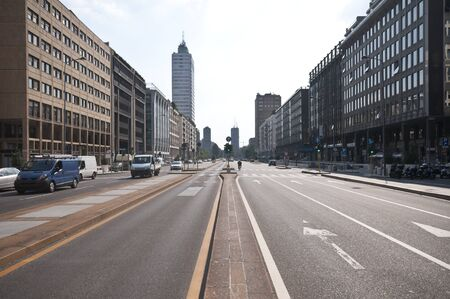 streets, skyscrapers and palaces of Milan Stock Photo - 8341681