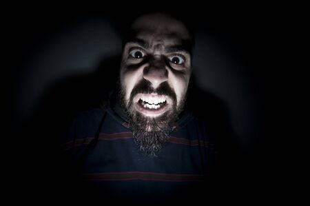 monstrous man with long teeth horror Stock Photo - 8966188