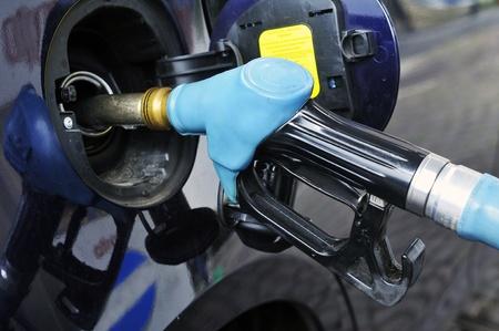 unleaded: Petrol pumps diesel and unleaded petrol Stock Photo