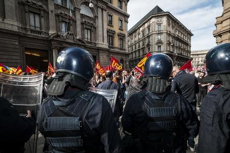 MILAN, ITALY - MARCH, 31 2012: occupy piazza affari manifestation Stock Photo - 12971921
