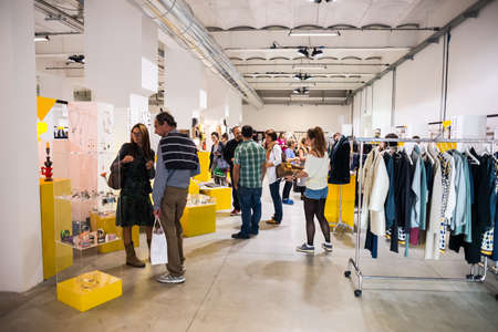 MILAN, ITALY - SEPTEMBER 20: So Critical So Fashion exhibition in Milan on September, 20 2013. Important alternative  fashion exhibition of biologiacal, vegan and recycled materials during Milan Fashion Week