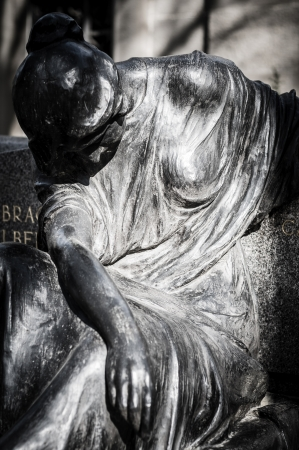 Scary Cemetery Statue Horror Death Stock Photo, Picture And
