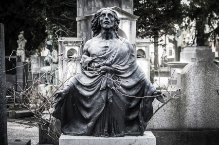 scary cemetery statue horror death photo