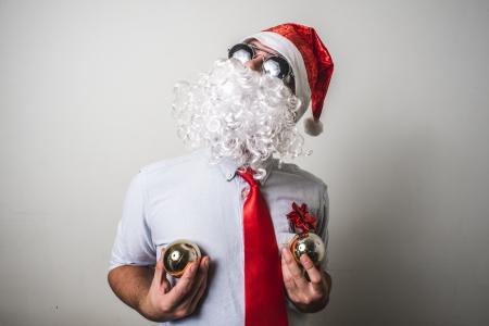 babbo natale: funny santa claus babbo natale on white background