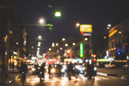 blurred city and people urban scene 版權商用圖片