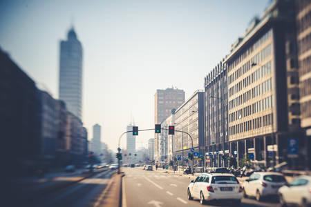 tilt: blurred abstract city tilt shift  Editorial