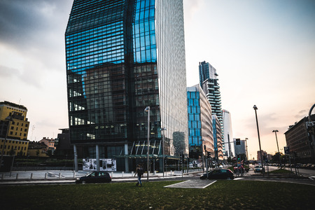 regeneration: MILAN, ITALY - JUNE 5: Porta Nuova Varesine district on June 5, 2014. Porta Nuova Varesine is one of the largest regeneration projects in Europe, covering a total of over 290,000 square meters