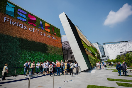MILAN, ITALY - MAY 27: israel pavillon at Expo, universal exposition on the theme of food on MAY 27, 2015 in Milan