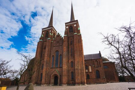royal family: Roskilde Cathedral, church of the Danish royal family Stock Photo