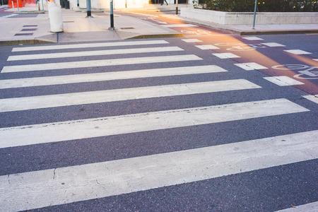 Pedestrian crossing mark Stockfoto