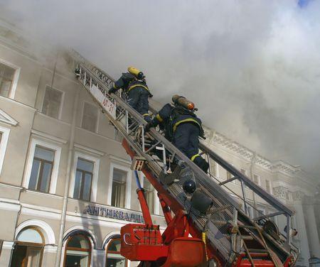 extinguishing: Fire extinguishing.