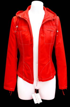 layman: Red jacket - isolated on black