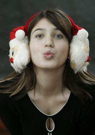 arousing: Girl with Christmas