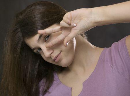 summons: Girl flirting Stock Photo