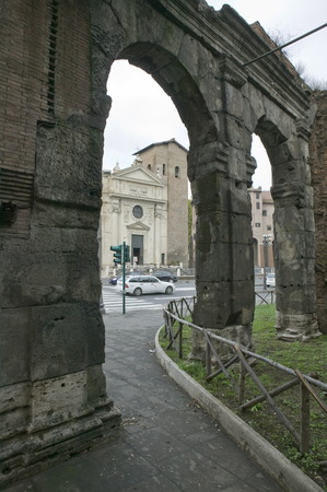 Ancient in Rome. Day. Remains. photo