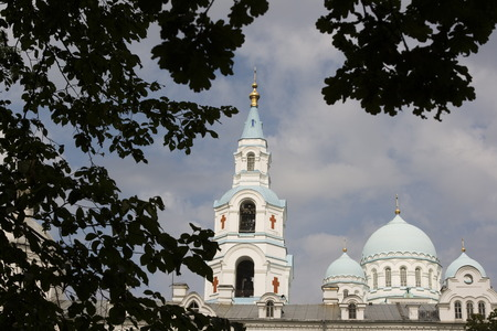 Spaso-Preobrazhenskiy cathedral, located at Valaam island, Ladoga lake, Russia Stock Photo - 1566910