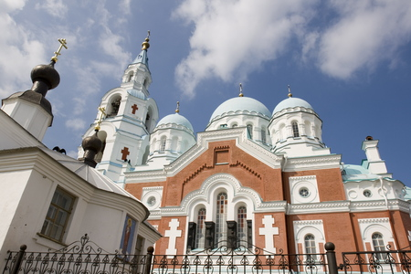 Spaso-Preobrazhenskiy cathedral, located at Valaam island, Ladoga lake, Russia
