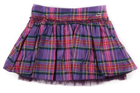 falda corta: arrugado falda corta a cuadros sobre fondo de whote