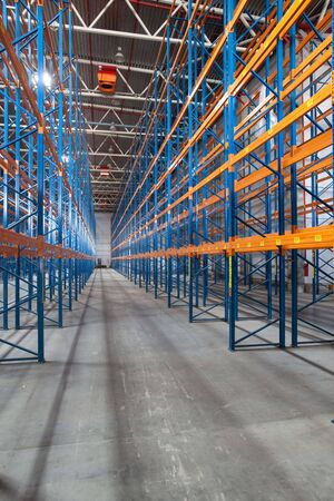 Interior of a modern warehouse ,clean and empty photo