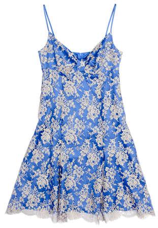Women's summer dress. Blue on white. Stock Photo - 8734753