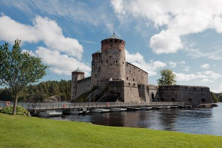Savonlinna castle (Olavinlinna, Olofsborg) in Finland Stock Photo - 11365754