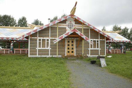 Russia, Leningrad Region, Podporozhsky  In Mandrogi, a crafts village on the Svir river