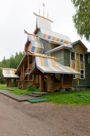 Russia, Leningrad Region, Podporozhsky  In Mandrogi, a crafts village on the Svir river  Stock Photo - 12943714