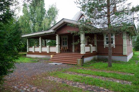 Russia, Leningrad Region, Podporozhsky  In Mandrogi, a crafts village on the Svir river  Stock Photo - 12943724
