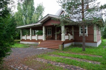 Russia, Leningrad Region, Podporozhsky  In Mandrogi, a crafts village on the Svir river  Stock Photo - 12943724