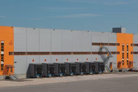 Warehouse. Empty loading docks. Stock Photo - 12943711