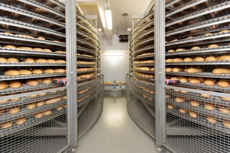 Broodbakkerij voedsel fabriek. Wit brood. brood Stockfoto