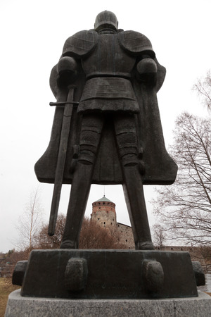 Monument to the knight called The Spirit of the fortress, made by sculptor Aimo Tikkanenym, was established in honor of the 500th anniversary of the fortress on the island Olavinlinna Tallisaari. The monument depicts the founder of the castle knight Eri