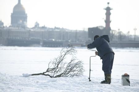 Winter fishing photo